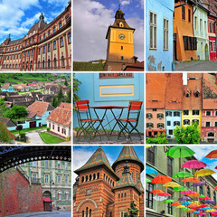 Romania travel collage