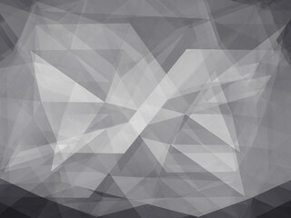 Double exposure of Black and white Low Poly trangular trendy hipster background for retro flyer, stylish brochure, poster,background and vintage applications.