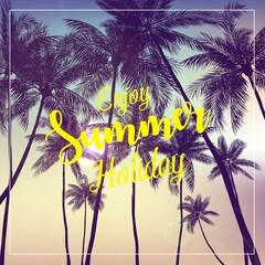 Enjoy Summer Holiday poster background