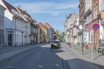 Odense Denmark stone paved street