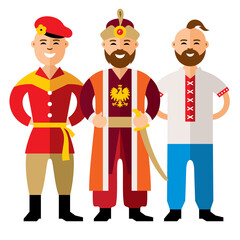 Vector Group of People. Flat style colorful Cartoon illustration.