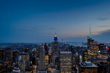 New York City starts to shine bright