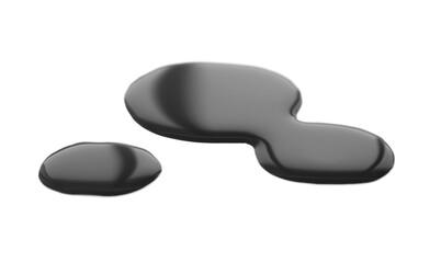 Oil blob on white background