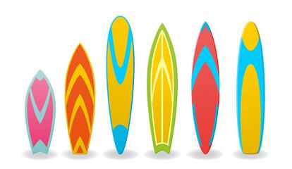 Vector illustration of a surfboards