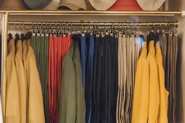 Clothing store in detail in Paris.