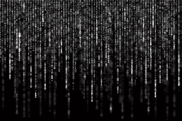 Digital Abstract background, black and white matrix Fototapete