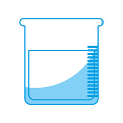 chemical flask icon over white background. vector illustration