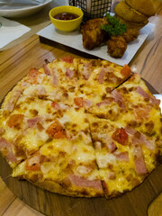 Pizza with Bacon and potato