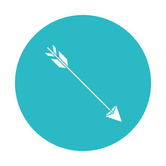 circle light blue with hunting arrow vector illustration