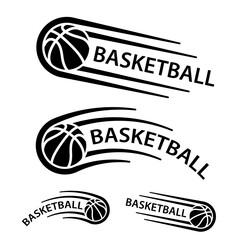 basketball ball motion line symbol vector