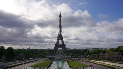 Photo of Eiffel Tower as seen from Trocadero, Paris, France