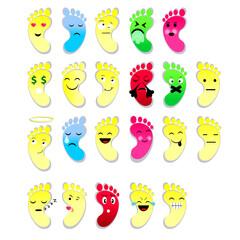 footprint emojies