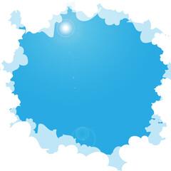 blue sky cloud flare copy space vector