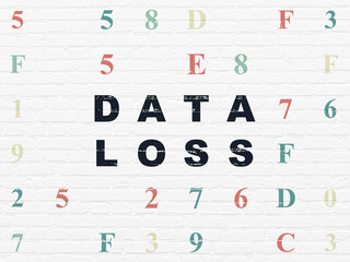 Information concept: Data Loss on wall background