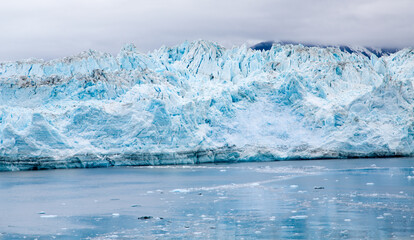 Blue Glacier in Icy Channel