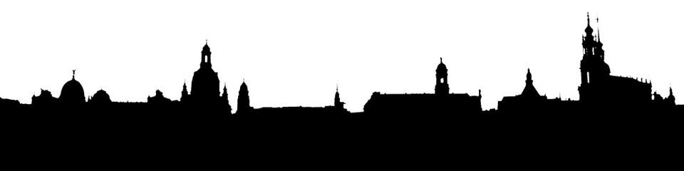 Skyline Dresden Silhouette
