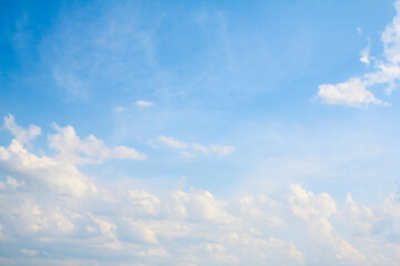 Clouds and blue sky Abstract background.