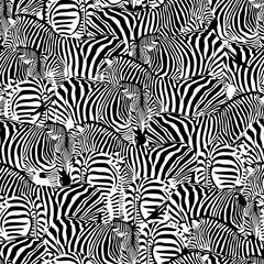 Zebra seamless pattern. Wild animal texture. Striped black and white. design trendy fabric texture, illustration.