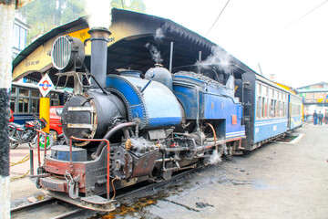 Darjeeling toy steam train, India.