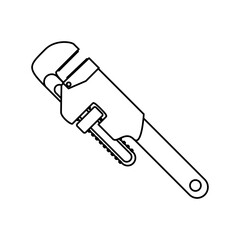 Wrench tool adjustable icon vector illustration graphic design