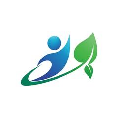 beauty care lotus flower swoosh logo