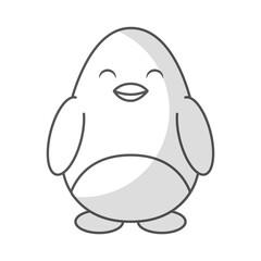 cute shadow penguin cartoon vector graphic design