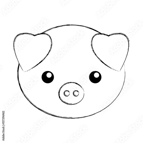 pig face coloring page - the lorax cut out coloring pages coloring pages