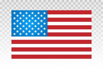 American flag vector illustration