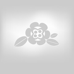 Vector flower icon isolated image on the background