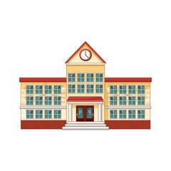 cartoon school building cartoon education vector illustration