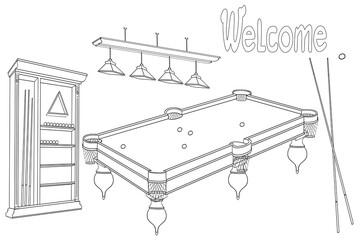billiard room welcome