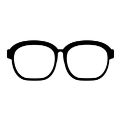 black icon glasses cartoon vector graphic design
