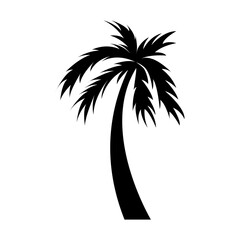 black icon palm cartoon vector graphic design