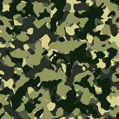 Seamless Green Camouflage Pattern