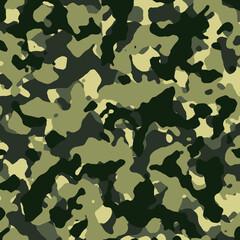 Seamless Green Camouflage Pattern