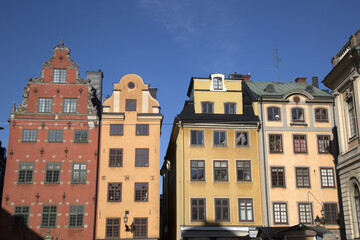 Colorful Building Facades, Stortorget Square, Gamla Stan - City Centre, Stockholm