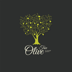 Olive label, olive logo design. Olive branch