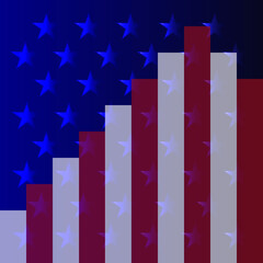 Vector image of abstract american flag