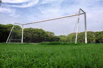 football and soccer goal