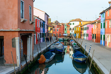 Picturesque houses in Burano
