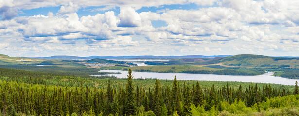 Foto auf Leinwand Kanada Labrador City Wabush mining towns pano NL Canada