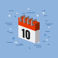 calendar flat image vector illustration icon design graphic