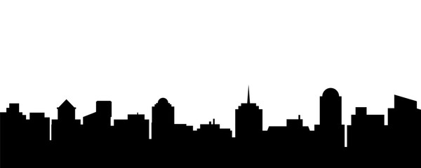 Black vector city silhouette
