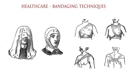 Head and chest bandaging techniques