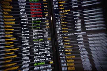 Flights information board