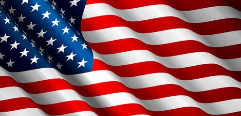 United States Flag Vector Fototapete
