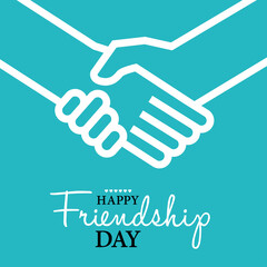 Happy Friendship Day card or background.