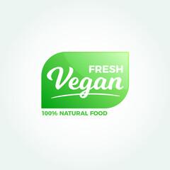 Fresh Vegan Natural Food Label