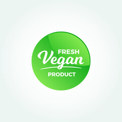Fresh Vegan Product Label