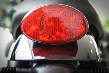 motorcycle tail brake light oval shape